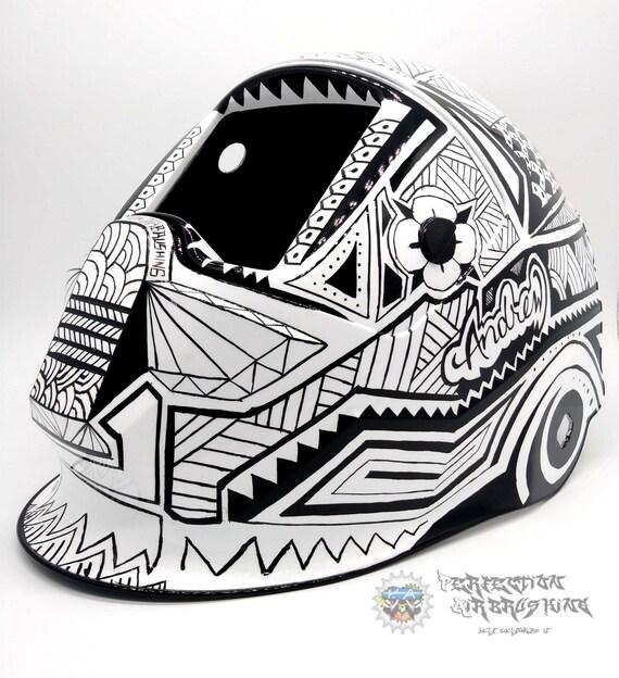 Polynesian Tribal Esab Sentinel A50 Welding Helmet Pinstriped Etsy