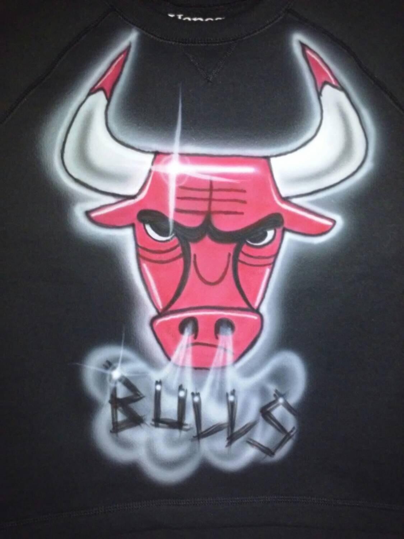 Airbrushed tallas S-2XL de Chicago Bulls con capucha diseño | Etsy