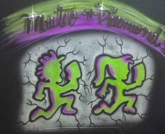 Airbrushed Custom Hatchet Man and Hatchet Girl T Shirt or Hoodie any SIZE z8XaS