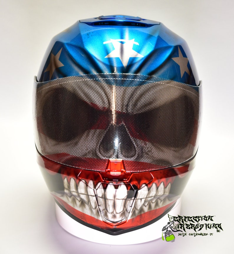Simpson Racing Helmets >> Patriot Skull Simpson Racing Or Motorcycle Helmet