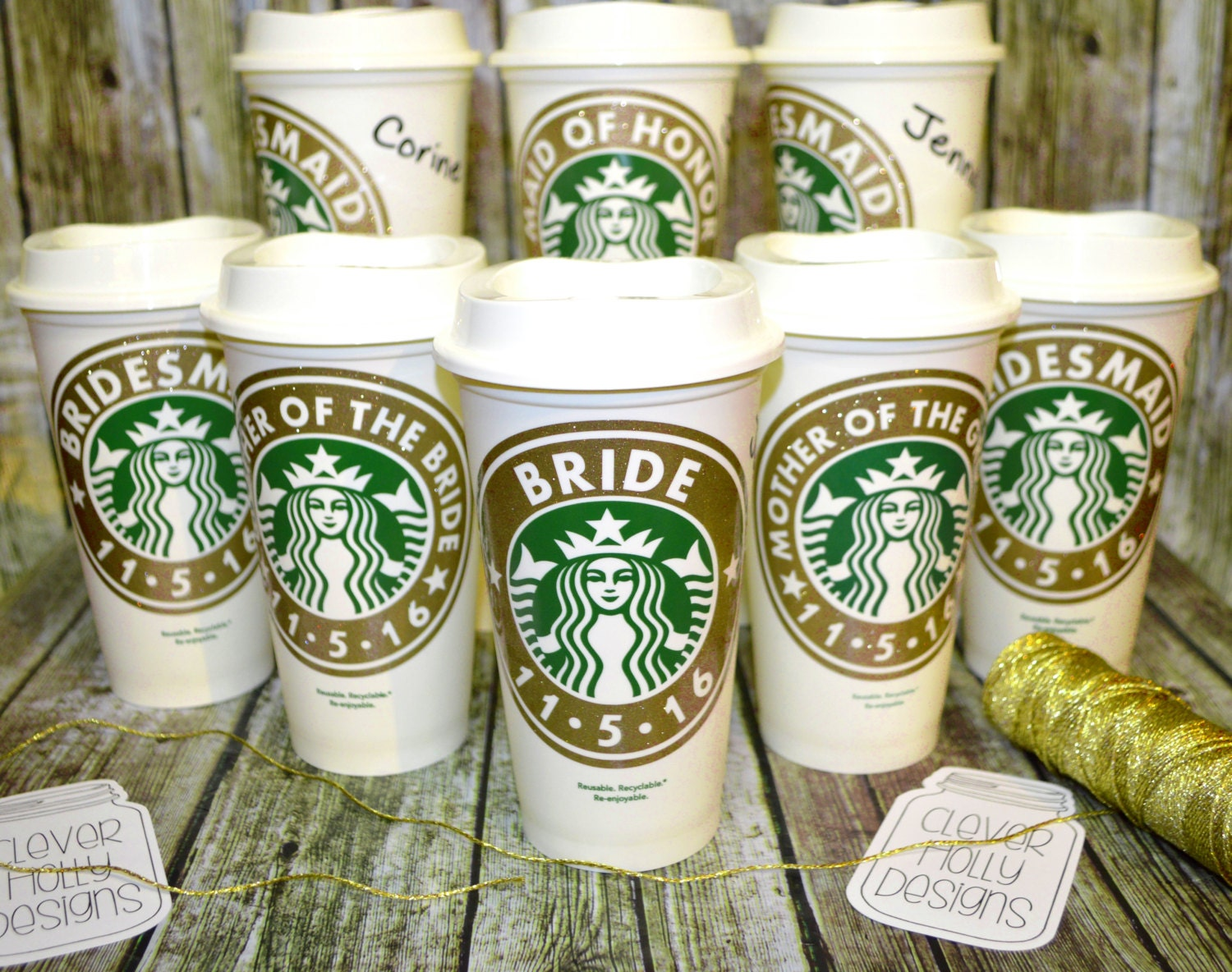 Bridesmaid Gifts Personalized Starbucks Coffee Cup With Name Etsy