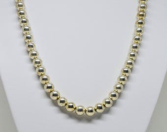 Yelow Tone Beaded Necklace