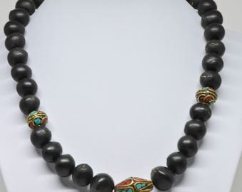 Large Asian Style Beaded Necklace