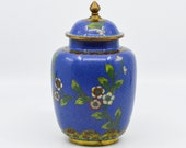Antique Chinese export cloisonne ginger jar, 7 inches tall, early 1900s