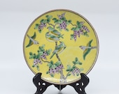 Antique Chinese porcelain plate, 8.5 inches wide, 1930s