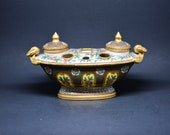 European, French antique porcelain inkwell, ca. early 1900s