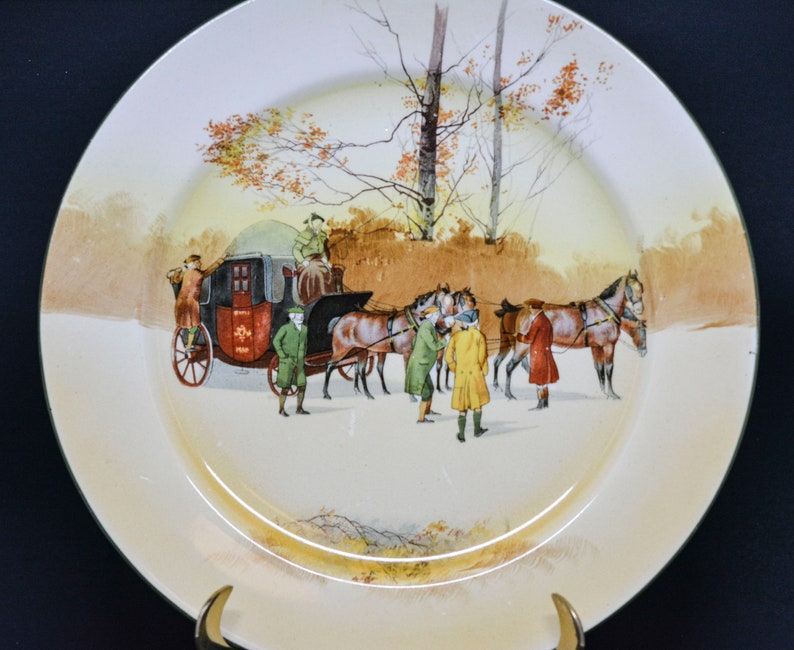 early 1900s 10 inches wide Antique English Royal Doulton porcelain plate