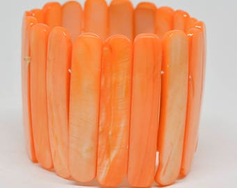 Lovely orange color stretchable bracelet