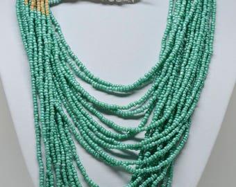 Beautiful multi color beaded necklace