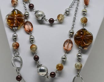 Charming multi color beaded necklace
