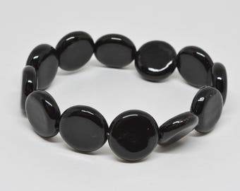 Black Beads Stretchable Bracelet