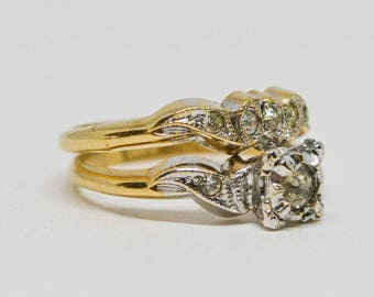 Lovely double gold tone ring