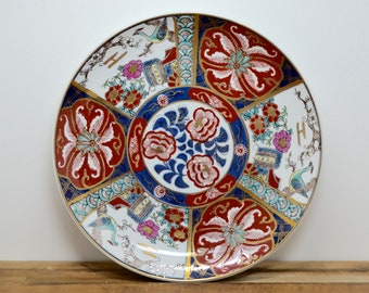Pottery & Glass Royal Kentucky.two Antique Ceramic Plates Collector.imari Style.gold Rims.