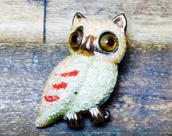 Owl Brooch Made in Korea, Owl Brooch, Owl Decor, Vintage Brooch, Owl Jewelry, Owl Pin, Bird Brooch, Owl Gift, Owl Lover, Owl Lovers Gift