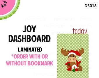 JOY (MOOSE)  Laminated Dashboard for Traveler's Notebook | .3mil | DB018