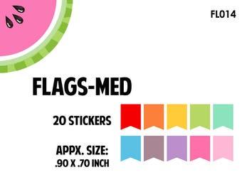 Flags Medium Stickers / Planner Stickers, Erin Condren / FL014