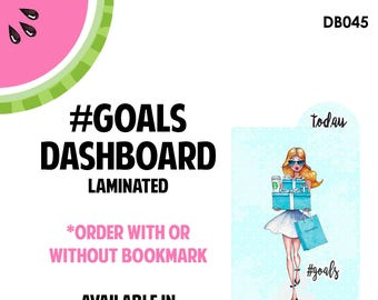 Tiffanys #GOALS  Laminated Dashboard for Traveler's Notebook | .3mil | DB045