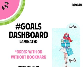 Tiffanys #GOALS RED Laminated Dashboard for Traveler's Notebook | .3mil | DB048