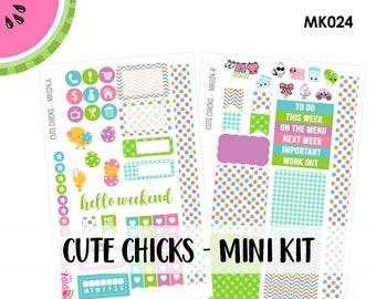a La Carte | Cute Chicks Mini Kit | Spring, Easter, Chicks | Erin Condren and Mambi  | MK024