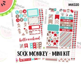 a La Carte | Sock Monkey Mini Kit | Erin Condren and Mambi  | MK020