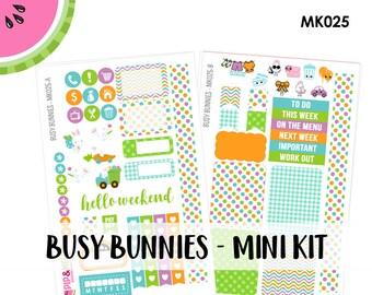 a La Carte | Busy Bunnies Mini Kit | Spring, Easter, Bunny | Erin Condren and Mambi  | MK025