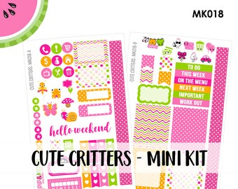 a La Carte | Cute Critters Mini Kit | Spring, Easter, Butterfly | Erin Condren and Mambi  | MK018