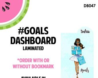 Tiffanys #GOALS DARK Laminated Dashboard for Traveler's Notebook | .3mil | DB047
