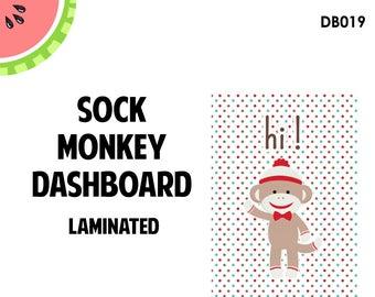 SOCK MONKEY Laminated Dashboard for Traveler's Notebook | .3mil | DB019