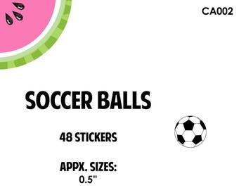 "Soccer Ball Stickers | .50"" size 