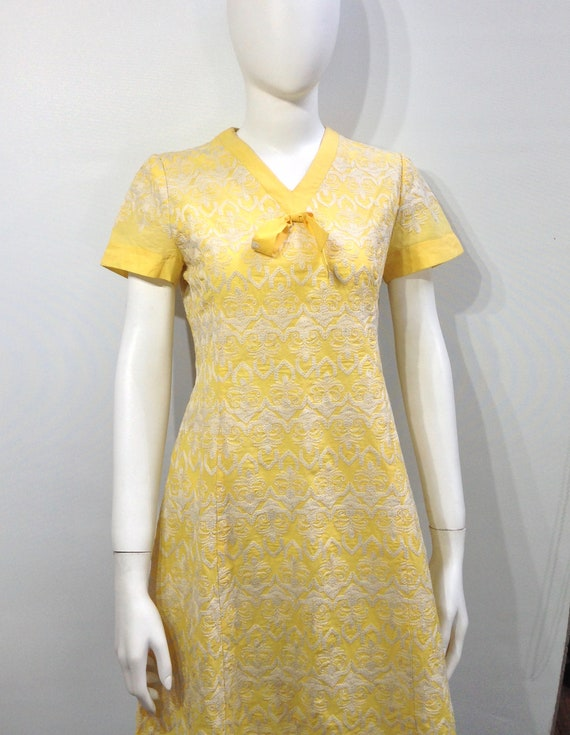 Vintage lemon  tea dress