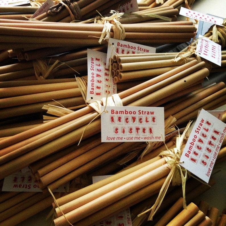 500 Bamboo straws or 50 gift sets wholesale