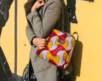 African wax print woman Backpack Ankara print Indian bag gift idea for women