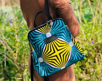 Woman backpack african wax print indian bag Africa bag gift for her