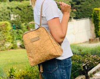 Cork bag pattern cork woman backpack purse eco friendly vegan cork bag gift for her