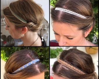 Boho headband hair accessories in lace fabric for women
