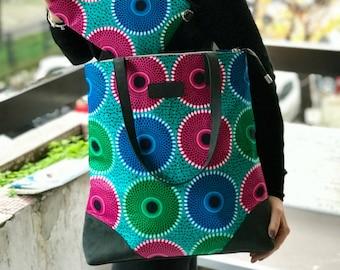 African wax print tote bag ankara print bag gift for women