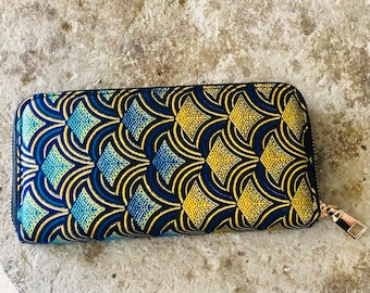African wax print woman wallet Ankara print fabric african wallet gift for her