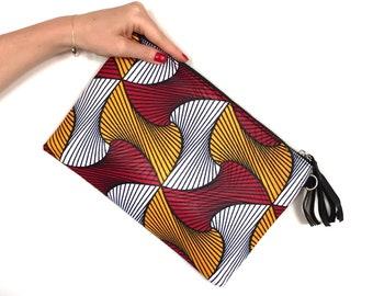 African wax print clutch bag Ankara print fabric shoulder bag gift for women