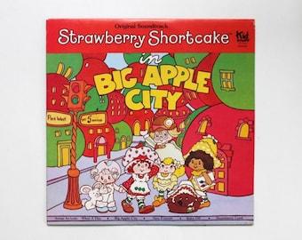 "Strawberry Shortcake in Big Apple City Original Soundtrack Record Album LP Vinyl 1981 American Greetings Corp. Kid Stuff Records 12"""