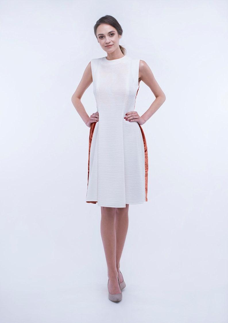size 40 0a439 ff7ef Weißes Kleid mit Stickerei/Orange Velvet  Dress/samt-Kleid/Kleid/Cocktail-Kleid/Anzug