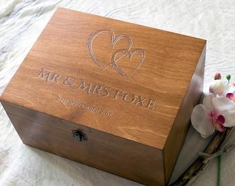 Wedding Memory Box, Personalized Wedding Box, Wedding Memento box, Custom  Keepsake Box, Wedding gift, Anniversary gift