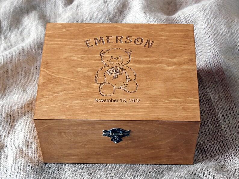 Personalised Baby memory box Baby keepsake box Keepsake box Teddy bear memory box