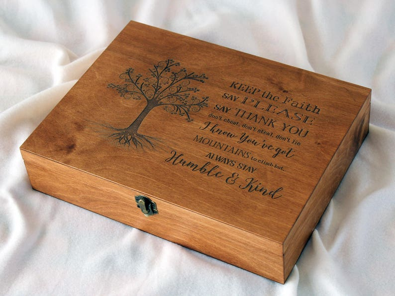 Personalized Memory Box Keepsake Box Custom Quote Memory Box Custom Engraved Box Personalized Keepsake Box Gift For Him