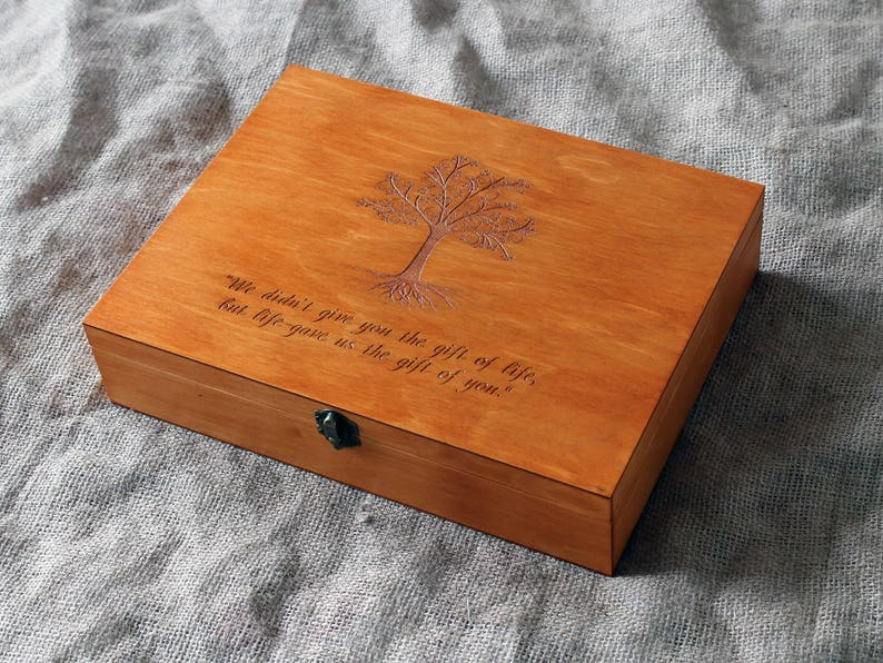 Personalized Memory Box Keepsake Box Custom Quote Memory Box Custom Engraved Box Personalized Keepsake Box
