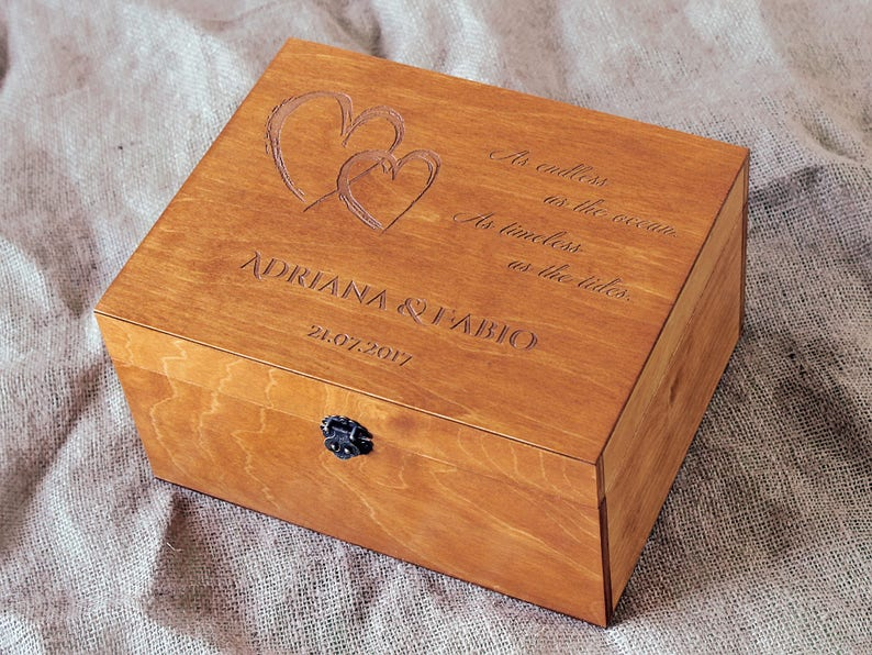 Wedding Keepsake Box Personalized Keepsake Box Custom Memory Box Wedding Memento Personalized Wooden Box Custom Engraved Box