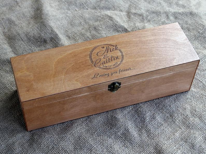 Wine Box Personalized Wine Box Personalized Wedding Gift Custom Engraved Wedding Wine Box Gift For Him