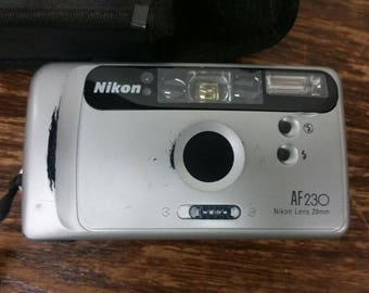 Nikon AF230 camera with bag