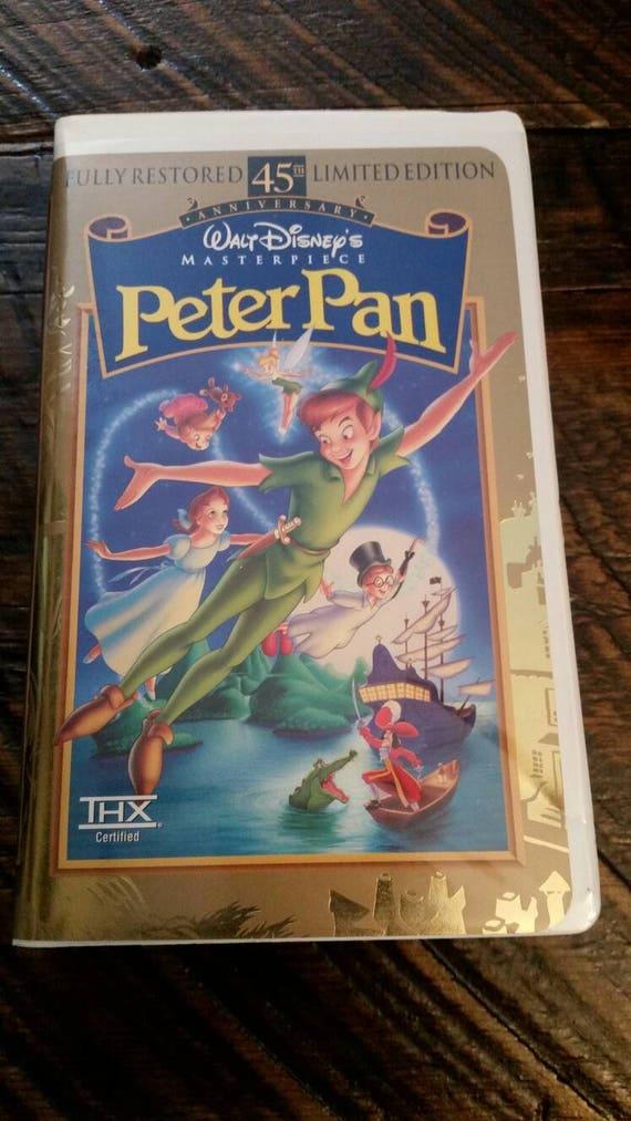 Walt Disney Vhs Peter Pan 45th Anniversary Fully Restored Etsy