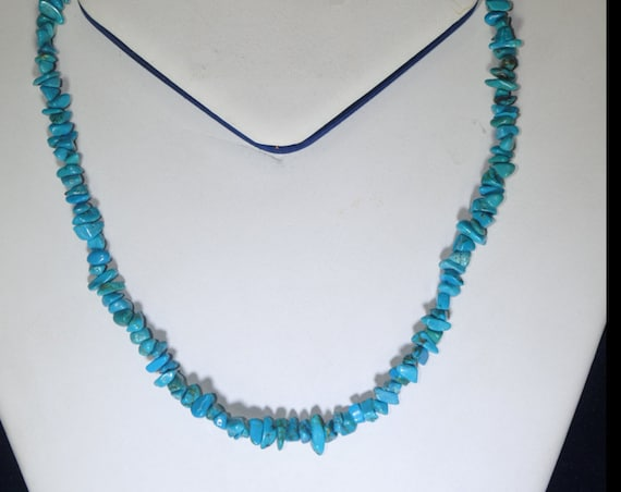 Turquoise nuggets necklace