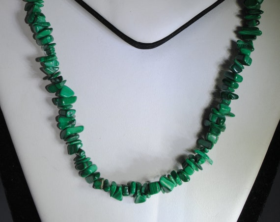 Collier baroque malachite vintage